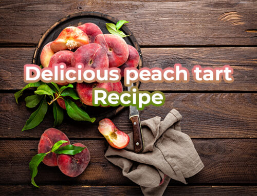 Delicious peach tart recipe
